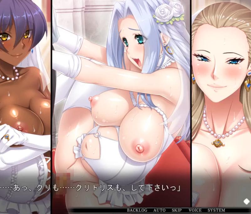 禁断の多重ケッコン!!変態ウェディングドレスの姫たちを次々に犯しまくる!!